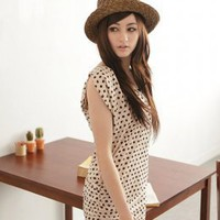Skinny Dots Apricot Girls Dresses Wholesale : Wholesaleclothing4u.com
