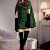 Unique Designer Green Ladies Winter Coats : Wholesaleclothing4u.com
