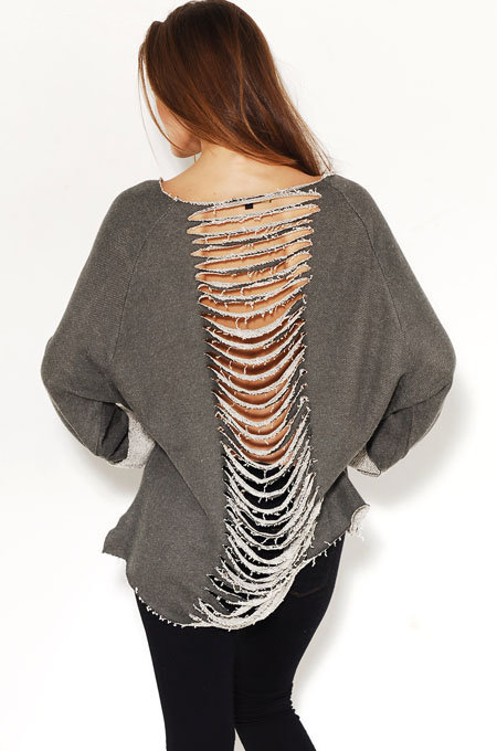 Slit Back Detail Sweatshirt by AKIRA | Knit Sweater | shopAKIRA.com