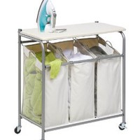Amazon.com: Honey-Can-Do Rolling Ironing and Sorter Combo Laundry Center: Home &amp; Kitchen