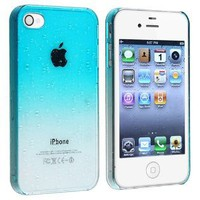 Amazon.com: eForCity Snap-on Case compatible with Apple iPhone 4 / 4S , Clear Sky Blue Waterdrop: Cell Phones &amp; Accessories