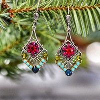 Soiree Sparkle Earrings - $38.00: From ourchoix.com, these intricate silver plated earrings are sure to sparkle this holiday season.