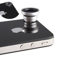 Magnetic 0.67X Wide Angle / Macro Lens Designed for Apple iPhone 4 iPhone 4S iPod Nano 5 iPad: Cell Phones & Accessories