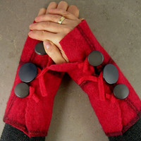 arm warmers fingerless mittens felted fingerless by piabarile