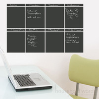 Chalkboard Calendar Vinyl Wall Decal Weekly by HouseHoldWords
