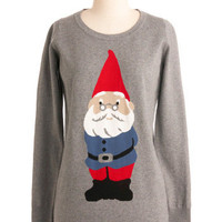 You Oughta Gnome Sweater | Mod Retro Vintage Sweaters | ModCloth.com