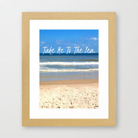 Take Me To The Sea Framed Art Print by Josrick | Society6
