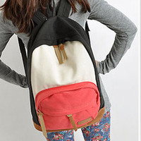 New Cool Woman&#x27;s Canvas Backpacks Satchel Book Bags Rucksack Knapsack IN4Colors