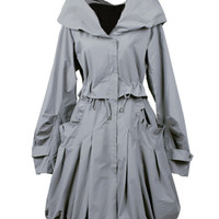 Princess Brought Wide Hem Light-grey Coat