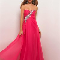 Chiffon Beadings Pleaged Bust  Floor Length Formal Prom Dress PD2151