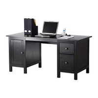 HEMNES Desk - black-brown  - IKEA