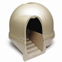 Amazon.com: Booda Dome Cleanstep Cat Box, Titanium: Pet Supplies