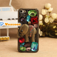 iphone 5 elephant case Elephant iphone case Rhineston case  iPhone 4 4s elephant case Classic design Elephant case cell phone cases