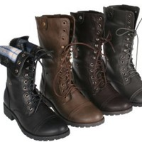 Amazon.com: Sweet Beauty terra-01 Women's mid calf combat boot with micro fiber lining: Shoes