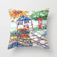 ::Levi's House:: Throw Pillow by GaleStorm Artworks | Society6