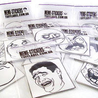 2,7&quot; Meme stickers printed on vinyl film and cut in form. lol 9 gag Yao decal car outdoor troll face yeah fuuu