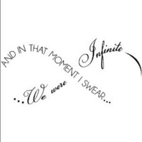 Amazon.com: And in That Moment I Swear We Were Infinite -Perks of Being A Wallflower wall saying vinyl lettering home decor decal stickers quotes: Home & Kitchen