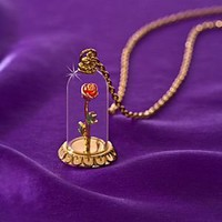 ''Enchanted Rose'' Beauty and the Beast Necklace by Disney Couture: Amazon.com: Kitchen & Dining