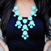 The Ocean Blue Crew Necklace | Hope's