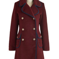 At Your Malbec and Call Coat | Mod Retro Vintage Coats | ModCloth.com