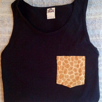 Pocket Tank Tops Customized. Small, Medium, Large, Extra Large