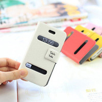 Table Talk Flip Cover Case Pouch Wallet for iPhone 4 4S 4G