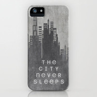 The City Never Sleeps iPhone Case by Ally Coxon | Society6