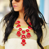 RESTOCK The Bright Red Crew Necklace | Hope's