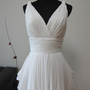 Grecian White Chiffon Wedding Dress by AllureBridal on Etsy