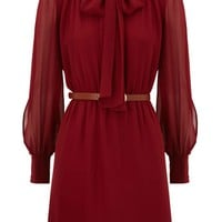 Warehouse 70`s plain dress Red - House of Fraser