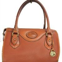 Vintage Dooney &amp; Bourke brown pebble leather handbag