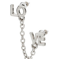 Silver Love Ear Cuff