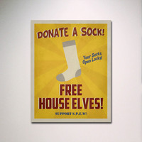 "SPEW Free House Elves Propaganda Poster 24"" x 36"" / Harry Potter Art"