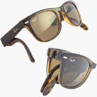 2012 RAY BAN FOLDING WAYFARER Sunglasses Tortoiseshell - RB4105 701