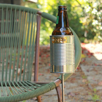 Hobo Tin Can Beer Holder/ Garden Drink Holder