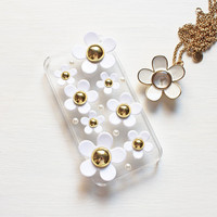 Marc Jacobs&#x27; Inspired White Daisy Flowers iPhone 4/4S Case