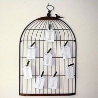 vintage birdcage notice board table plan by the wedding of my dreams | notonthehighstreet.com