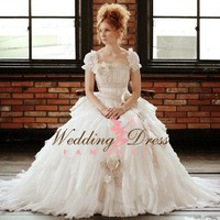 Romantic Couture Wedding Gown Lorelei by weddingdressfantasy