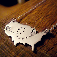 Country Love Personalized Sterling Silver Pendant