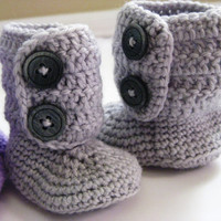 Crochet baby boots by iamagirlytomboy on Etsy