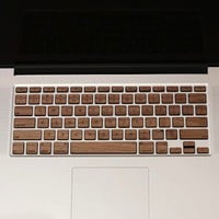 Wooden Decal For MacBook Keyboard - $40 | The Gadget Flow
