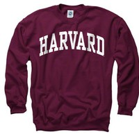 Harvard Crimson Maroon Arch Crewneck Sweatshirt