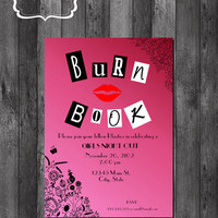 Mean Girls Inspired Burn Book- FOLLOW ME AND ENJOY<3