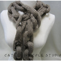 NEW knit chain novelty long scarf great stocking stuffers gifts under 20 Catherine Cole Studio