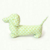 The Dachshund Pillow Custom colors and sizes by sweetlittlebirdie