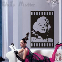 Hight 100cm Beautiful Marilyn Monroe   Nature Vinyl Wall Paper Decal Art Sticker Q333