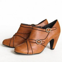 Chelsea Crew Lisa buckle booties at ShopRuche.com, Vintage Inspired Clothing, Affordable Clothes, Eco friendly Fashion