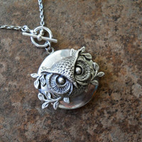 Owl King Woodland Locket EXCLUSIVE DESIGN Only by enchantedlockets