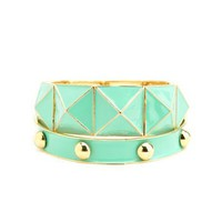 Pyramid Stud Bracelet Set: Charlotte Russe