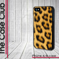 Cheetah Print - iPhone 4 Case - iPhone 4s Case - iPhone 4 cover  skin -  Leopard Faux Fur - FREE Shipping